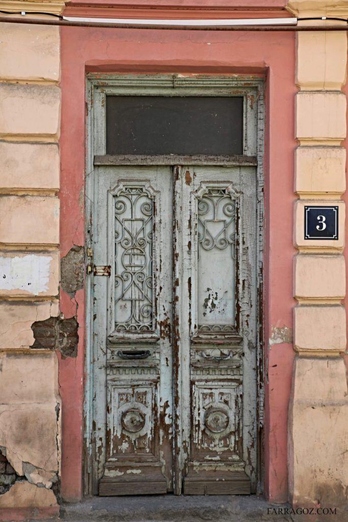 Old Door With Peeling Paint Tbilisi Georgia Architectural Features Old Door Painted Doors