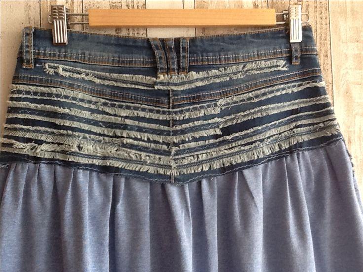 Переделка джинсовой мини юбки