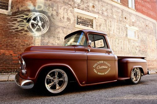 BIG BLOCK 1955 3100 CHEVY RAT ROD RESTO SHOP STREET HOT ROD PICKUP TRUCK w/ AC ~, image 7