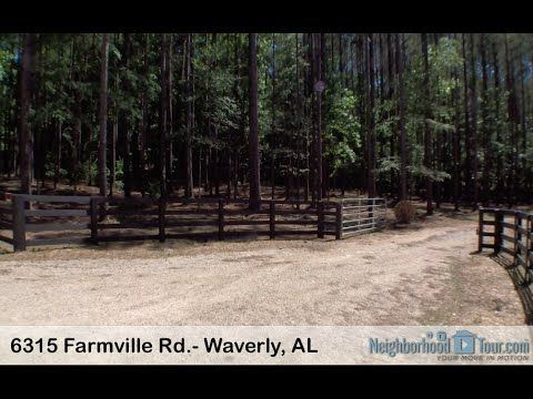 6315 Farmville Rd.- Waverly, AL Gorgeous acreage w/ hardwoods & pines. Just 1 mile from Auburn city limits (coming from N. College St., take Farmville Road 2 miles past The Preserve subdivision, and this property is on your left)! Owner is a licensed real estate agent.  Gravel driveway, perc test available, Loachapoka water meter installed, new shed. Call Katherine Smith (334) 740-2020. First Realty.