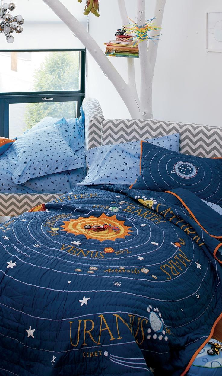 Solar System Bedding #kids #bedrooms #boys