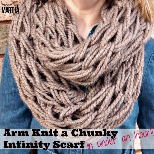 This tutorial focuses on arm knitting an infinity scarf - a craft that is so easy and quick (30 minutes!!) to make, even the kids can learn how!