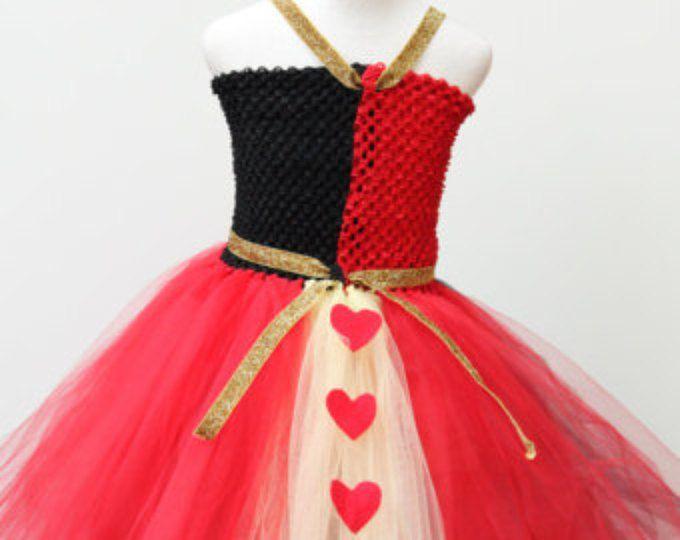 Reina de corazones vestido diseñador traje - Reina de corazones traje, vestido de negro rojo - Alicia en la reina negra del país de las maravillas - rojo