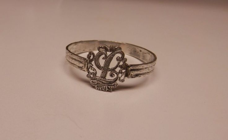 Napkin Ring with a ( Initial ( L ) Sterling Silver