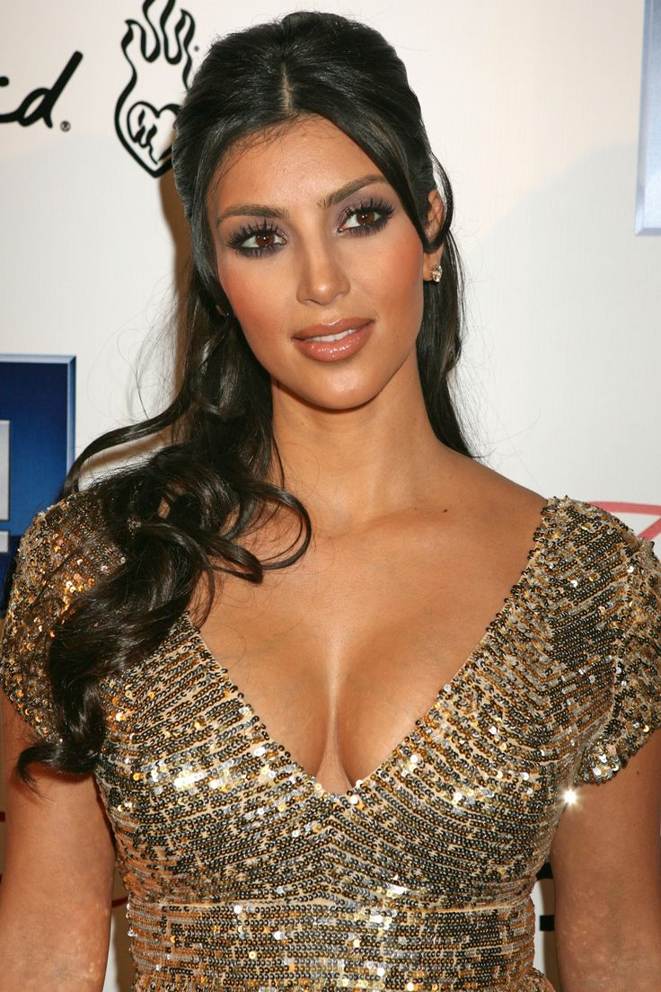 hair half up half down kim kardashian | Fabulous ...