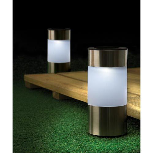 Stainless Steel Solar Light | Poundland