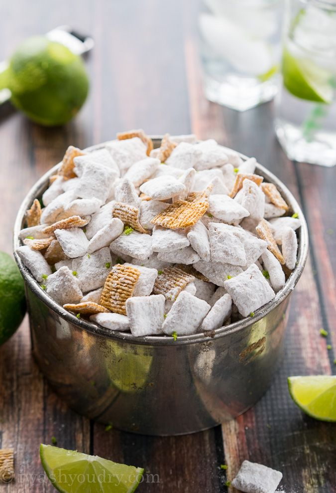I think I know what I want my next cookbook to be about… Muddy Buddies!! Oh the possibilities. I can pretty much turn any one of your favorite flavors into a Chex mixcreation, like these Key Lime Pie Muddy Buddies! Seriously, though... this is one of the best flavors I have made to date! You're probably wondering, how on earth did she get a key lime flavor into this chex mix? I'm glad you asked! I infused the powdered sugar coating with lemon and lime gelatin powder! If you didn'...