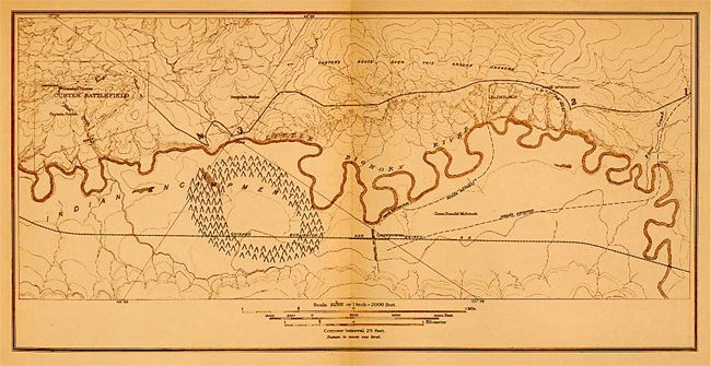 Map of Custer's Last Stand