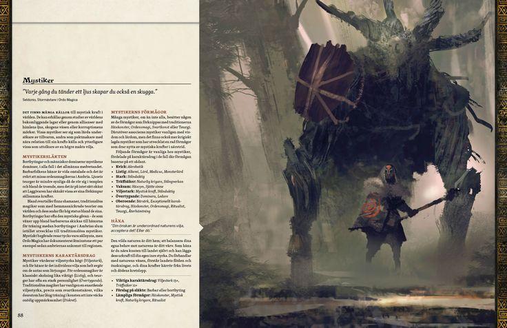Eine Seite aus dem schwedischen Rollenspiel Symbaroum. Riesige von Mystikern gelenkte Holzwesen...