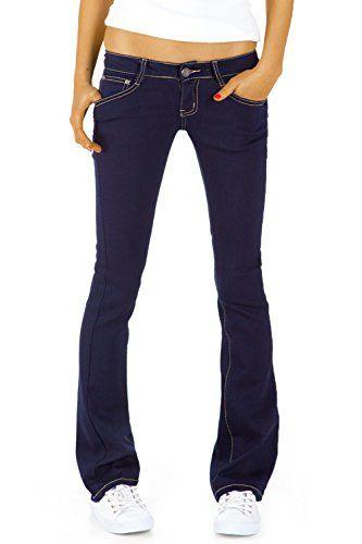 Bestyledberlin Damen Hüftjeans Jeanshosen, Bootcutjeans - Stretchjeans gerades Bein j43kw 38/M - http://www.css-tips.com/product/bestyledberlin-damen-huftjeans-jeanshosen-bootcutjeans-stretchjeans-gerades-bein-j43kw-38m/