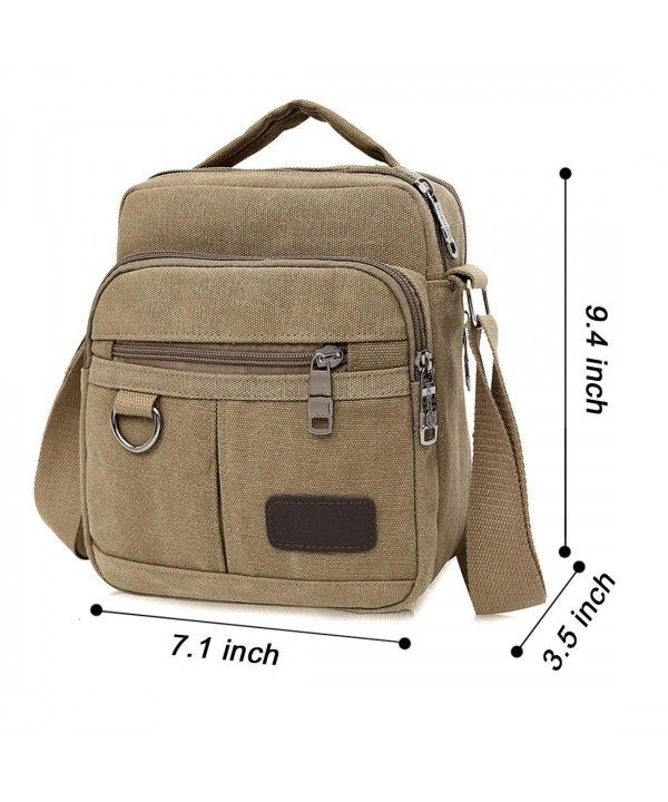 Small Vintage Canvas Shoulder Bag for Men s Traval and Work Cross ... 93623d9570eb8