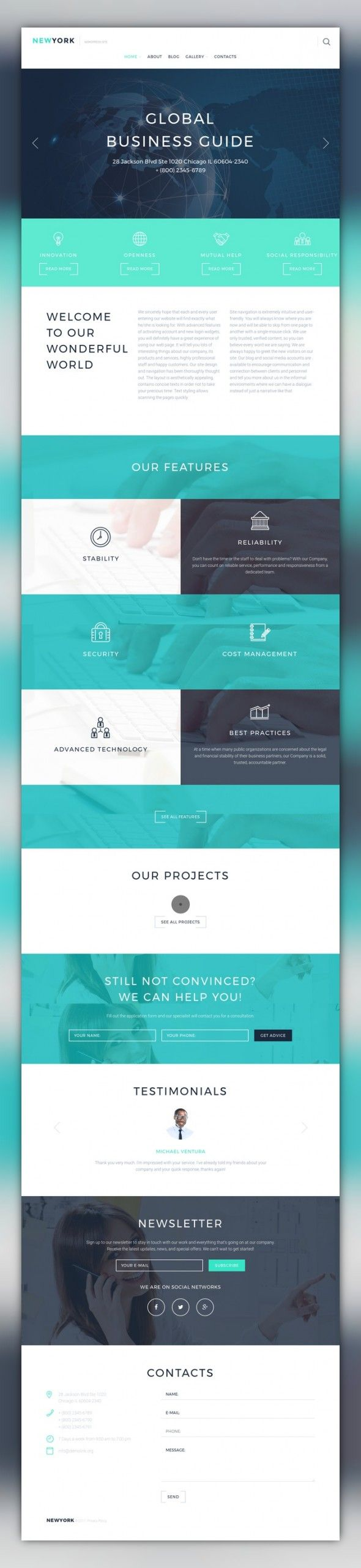 Accounting Website Responsive WordPress Theme CMS & Blog Templates, WordPress Themes, Business & Services The theme will be a perfect match for business projects that need to create a professional and trustworthy online presentation. A minimalist style of the template draws the users' eye to the conten...