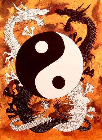 """Tree of Life - Yin and Tang connection. Again, the dragons are coiling up - """"THE KUNDALINI - SERPENT - Esoteric Science and Philosophy"""""""