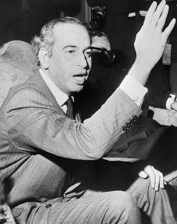 """""""Bhutto struggled to modernize Pakistan on the one hand, while sinking it into a quagmire of controversies on the other, during the course of his five years in power. His unquestionable brilliance made him not just the voice of the downtrodden in our country but also the spokesman of the entire Muslim world."""" --Syeda Abida Hussain, author of Power Failure: Political Odyssey of a Pakistani Woman (Zulfikar Ali Bhutto. National Dutch Archives. CC BY-SA 3.0 via Wikimedia Commons.) #Pakistan…"""