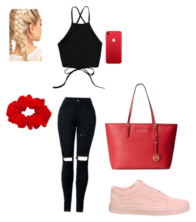 """""""Untitled #1"""" by connievonnuet ❤ liked on Polyvore featuring Vans and Michael Kors"""