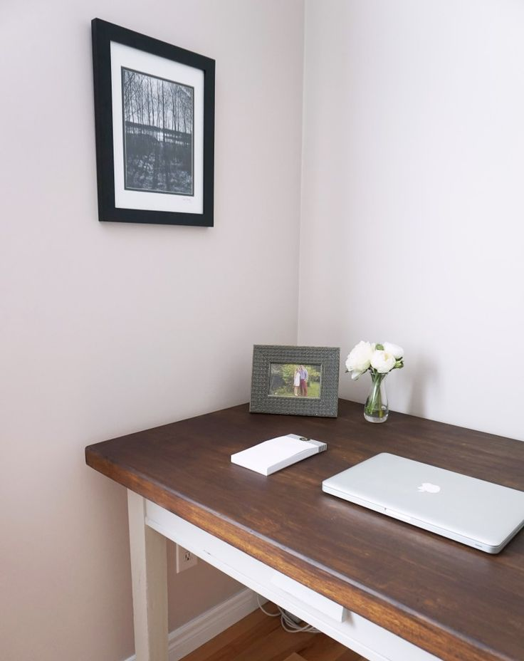 How I transformed this old solid wood desk with chalk paint and Milk Paint.