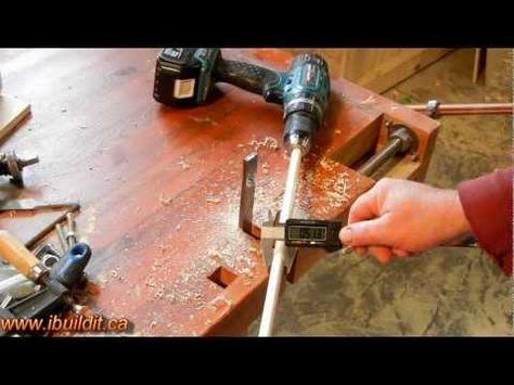 Homemade jig for making your own custom dowels. - Cool Tools