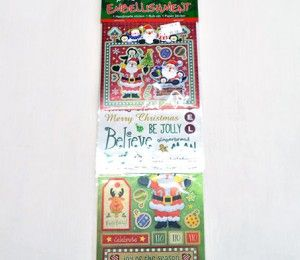 Red Santa Sticker Embellishments on sale for R47.50  | Paradise Creative Crafts cc