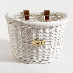 Nantucket Co. Cruiser Collection White Bicycle Basket | Overstock.com Shopping - Great Deals on Bike Parts & Accessories