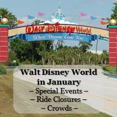 Disney World in January -  Lots of pool closures & refurbishments in January. Crowd Information, Ride Closure & Refurbishments and Special Events Information in one easy list.  See: http://www.buildabettermousetrip.com/wdw-january-crowds-closures-special-events/