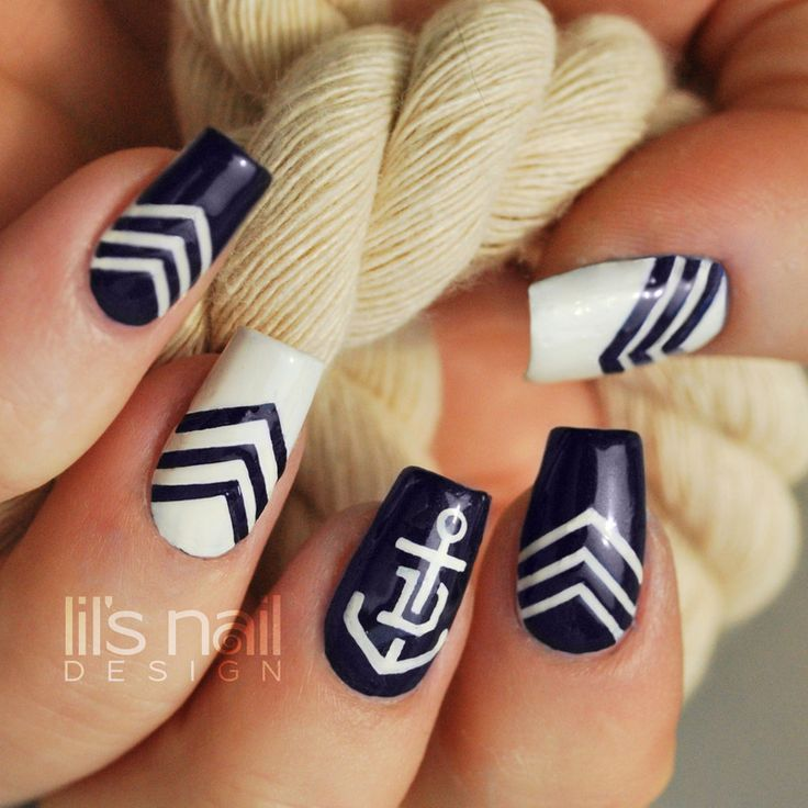 Nailpolis Museum of Nail Art | Fremantle Dockers Nails by Lily-Jane Verezen