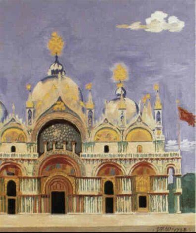 1938 Marcuskirken i Venedig by Jens Ferdinand Willumsen
