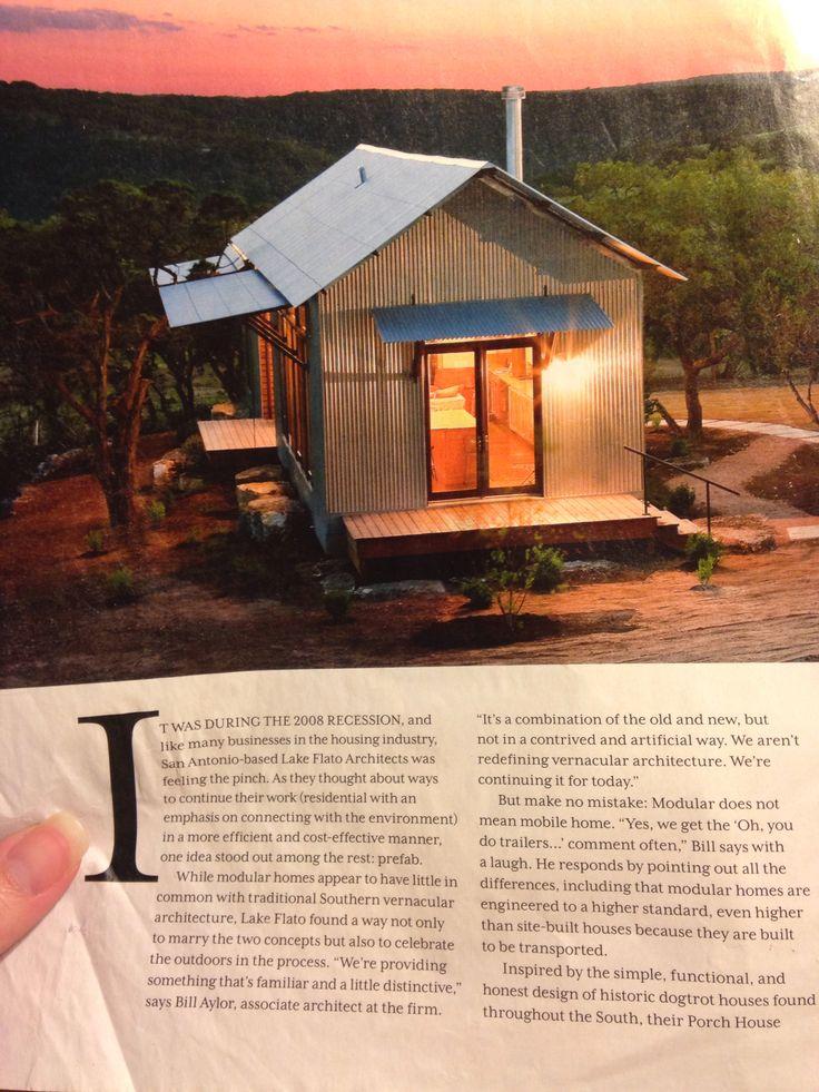 Lake Flato modular home Lake flato, Modular homes, House