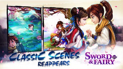 Меч и Фея 3D был оценен как пионер 3D действий с мобильного . Ли Xiaoyao, главный герой