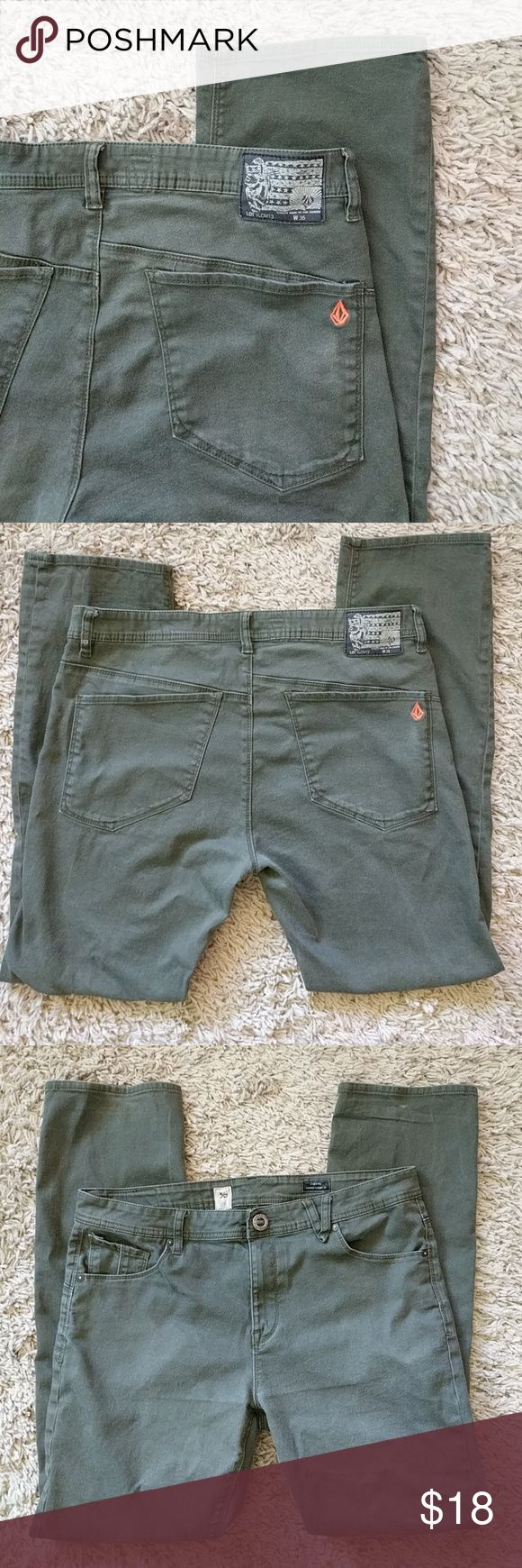 Mens volcom military green pants Volcom solver army green. Modern straight fit. Lightly worn. Make me an offer :) Volcom Jeans