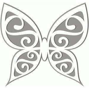 Silhouette Design Store - View Design #42040: butterfly cutout