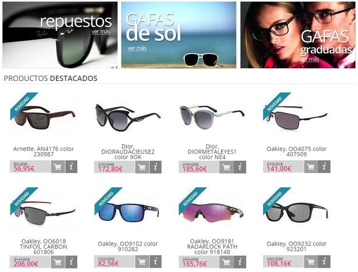 Gafasydesol, amor a primera vista. Enamórate de la nueva colección primavera-verano de Gafasydesol, con originales diseños y colores para todos los gustos. Anticípate a la primavera y renueva tus gafas de sol, en nuestra sección de novedades encontrarás los últimos diseños de las mejores marcas: Dolce & Gabanna, Dior, Ray-ban, Carrera, Oakley, etc. http://www.gafasydesol.com/