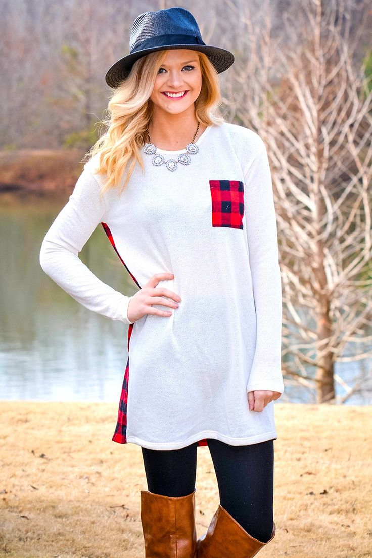 Back in Town Tunic in Red