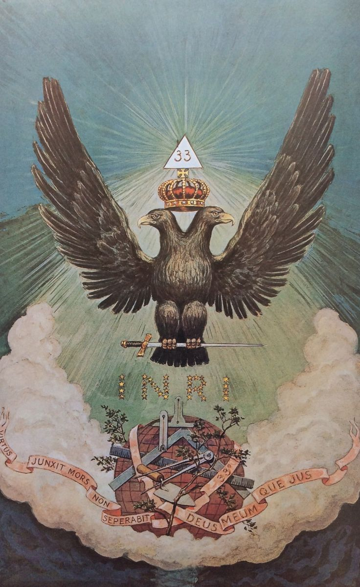 "Double-Headed Eagle (The end product of the Magnum Opus). See also: Rebis in Alchemy, the divine Hermaphroditus (child of Hermes (Intellect) and Aphrodite (Feeling)), Ardanarishvara (androgynous form of Shiva merged with Parvati). // J. Augustus Knapp (1853-1938); from ""The Secret Teachings of All Ages"" by Manly P. Hall (1928)."
