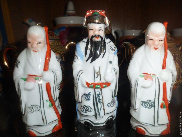 Купить китайский монах костяной фарфор Китай,винтаж - белый, подарок, сувенир, винтажная статуэтка