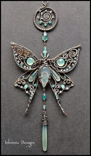 Butterfly sun catcher or pendant - WireWorkers Guild