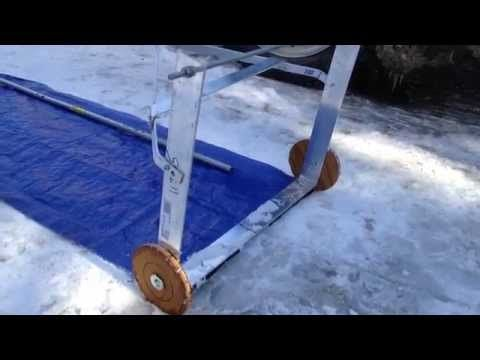 Avalanche Style Roof Rake Can Easily Clear Snow Roof