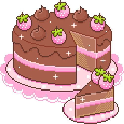 Chocolate Cake Pixel Art : 154 best images about pixel on Pinterest Kawaii shop ...