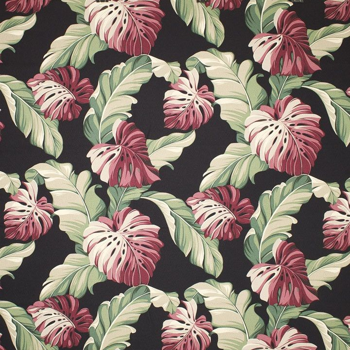 Botanical (Black) - Leaf Pattern – Diamondhead Fabrics