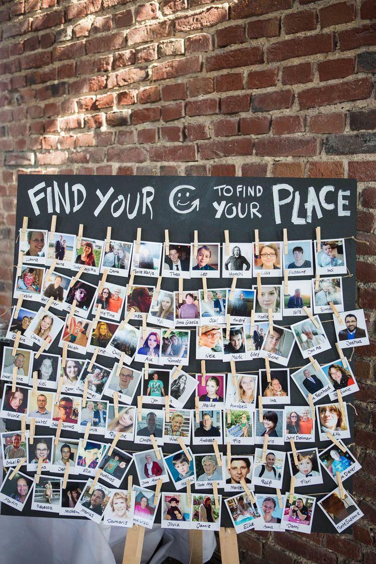 #Tischordnung: Polaroid-Fotoaufanahmen von den Gästen - Do it yourself