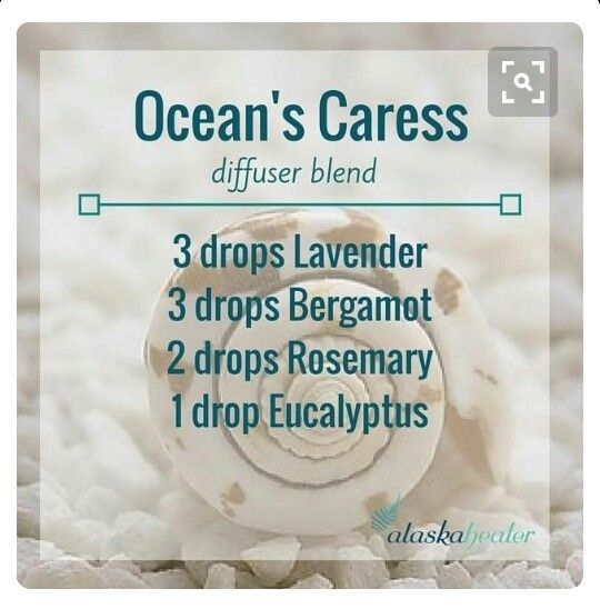 ☆Ocean's Caress diffuser blend  (I used 1 drop rosemary ) Smells really nice