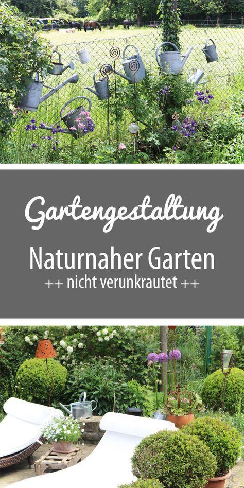 Gartengestaltung: Ein naturnaher Garten - nicht verunkrautet - mit Sitzplätzen und Gartenteich