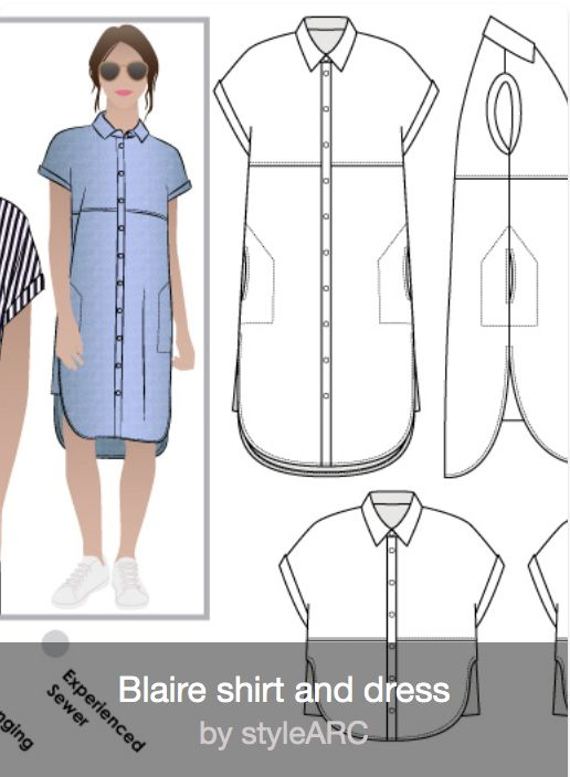 Blaire shirt and dress StyleARC