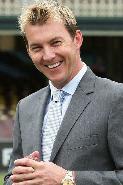 Brett Lee. Former Australian cricket team fast bowler.