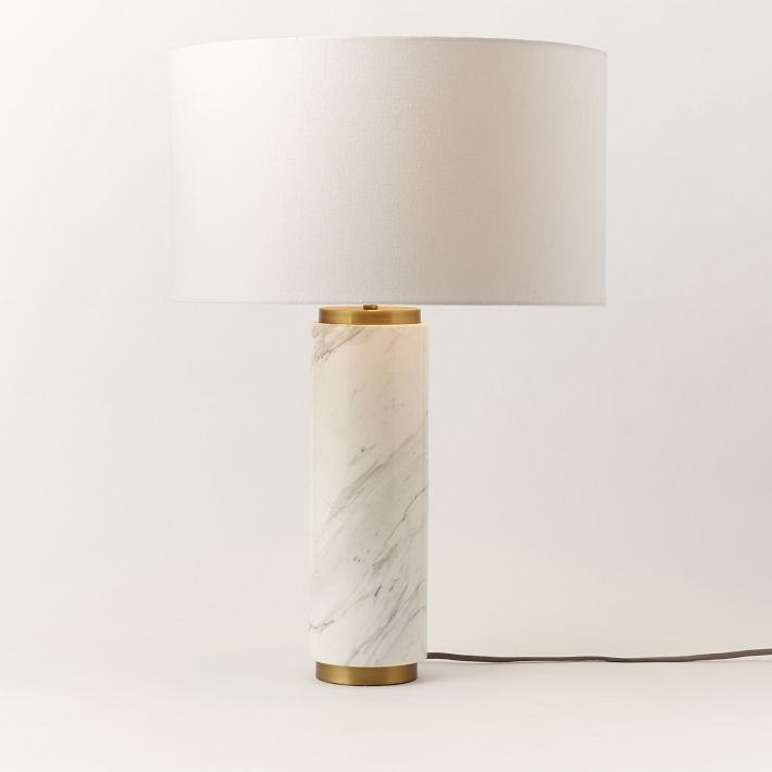 9 best marble lamps images on pinterest lamps lights and marble west elm pillar marble table lamp has a nice clean fresh feel keyboard keysfo Image collections