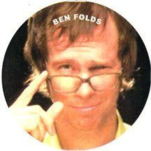 Ben Folds Sardonic Keychain by Barger's Boutique. $2.00. Ben Folds gives a sardonic look over his glasses on this keychain. Carry his smart ass in your pocket on this keychain.