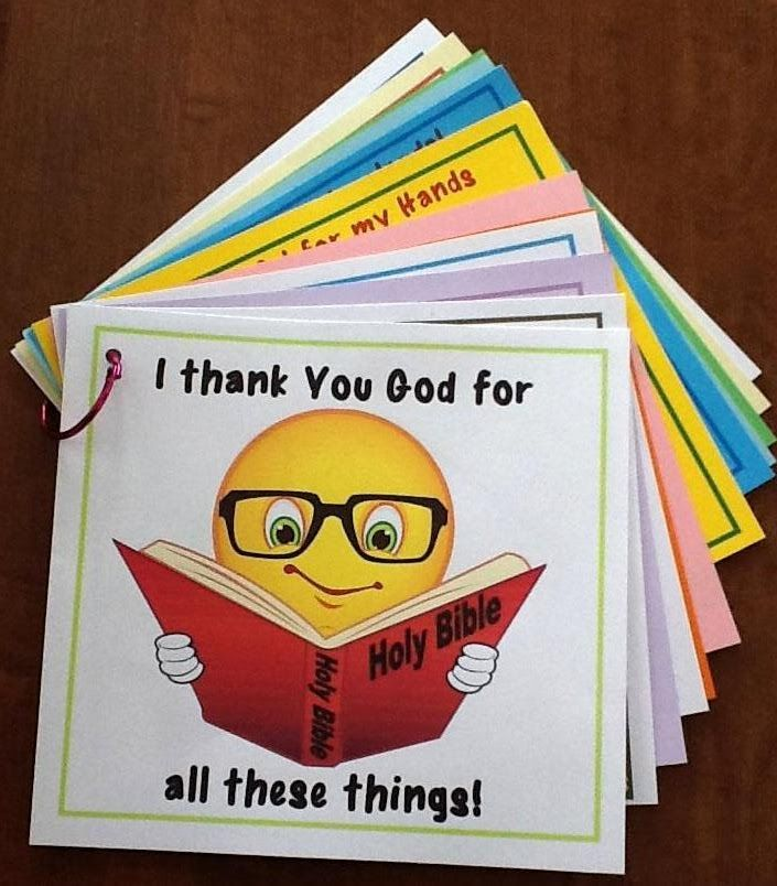 Bible Fun For Kids: I Thank You God for Everything Book. LOVE this idea, I wouldn't do everything she did because I have a classroom full of three year olds but it looks fun!