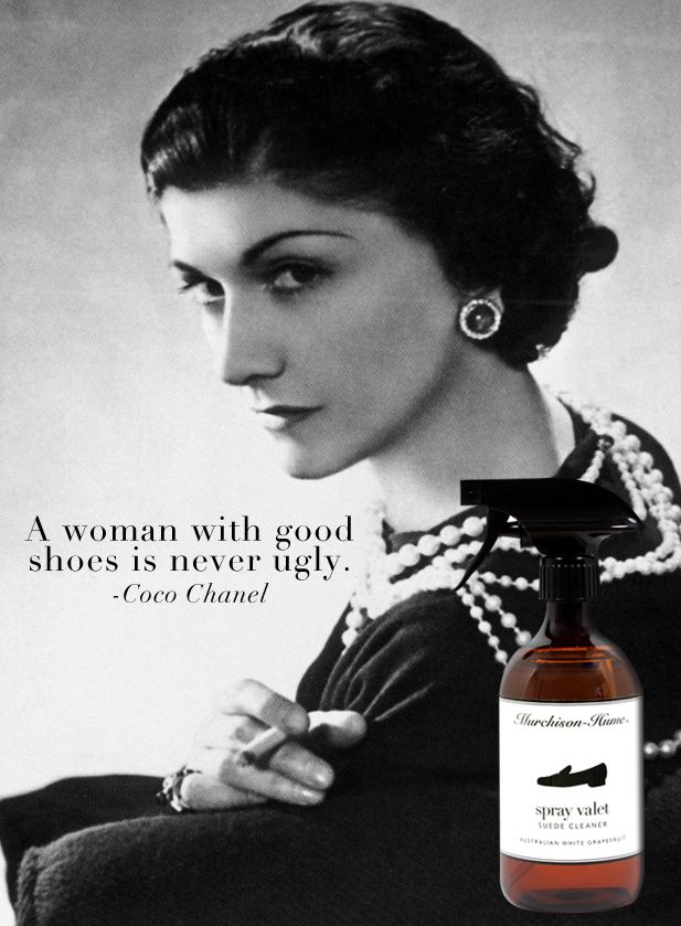 """""""A woman with good shoes is never ugly.""""  -Coco Chanel http://murchison-hume.com/products/suede"""