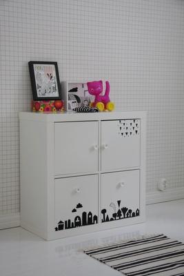 IKEA EXPEDIT w/ drawers/doors & stickers/decals