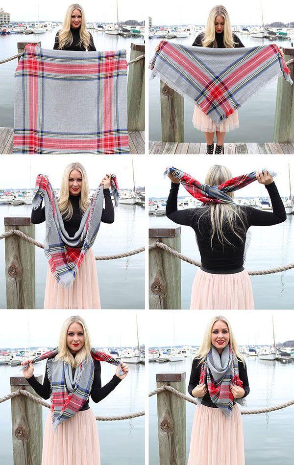 16 ways to wear a blanket scarf