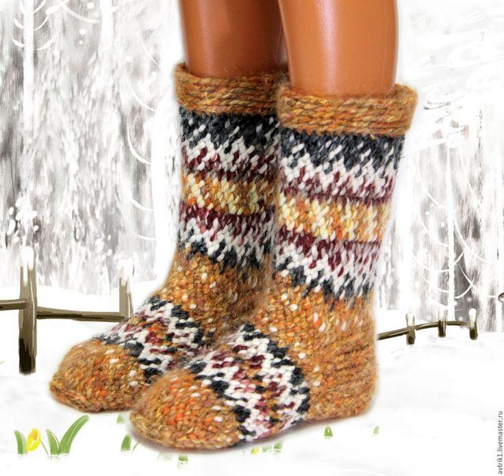 Купить Джурабы (26см) 38-39р - разноцветный, носки, вязаные носки, джурабы, памирские джурабы